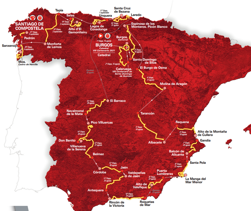 Spanien Rundfahrt 2021